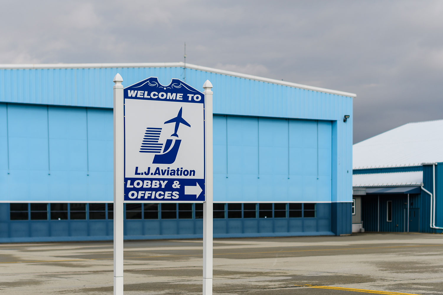 L.J. Aviation's headquarters location offers a wonderful location and a family-oriented atmosphere to prospective employees.