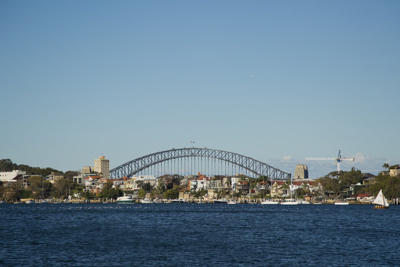 View of the Harbour Bridge from Cockatoo Island