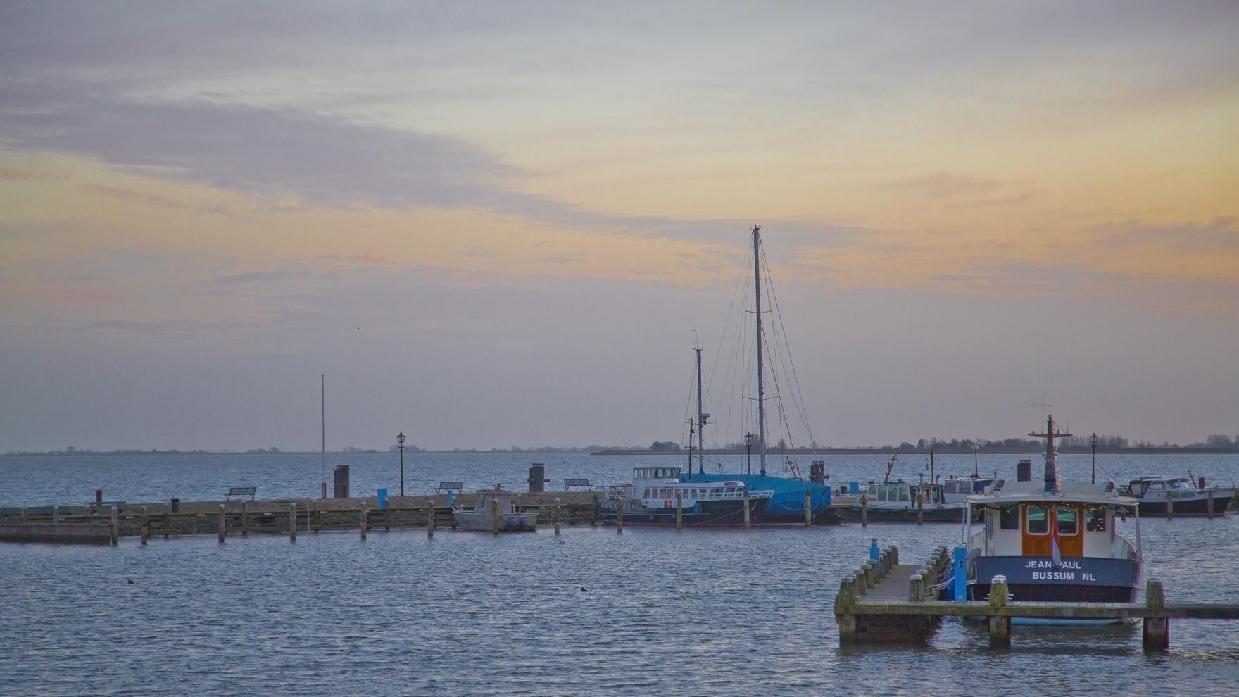 Volendam Harbor which is just north of Amsterdam.