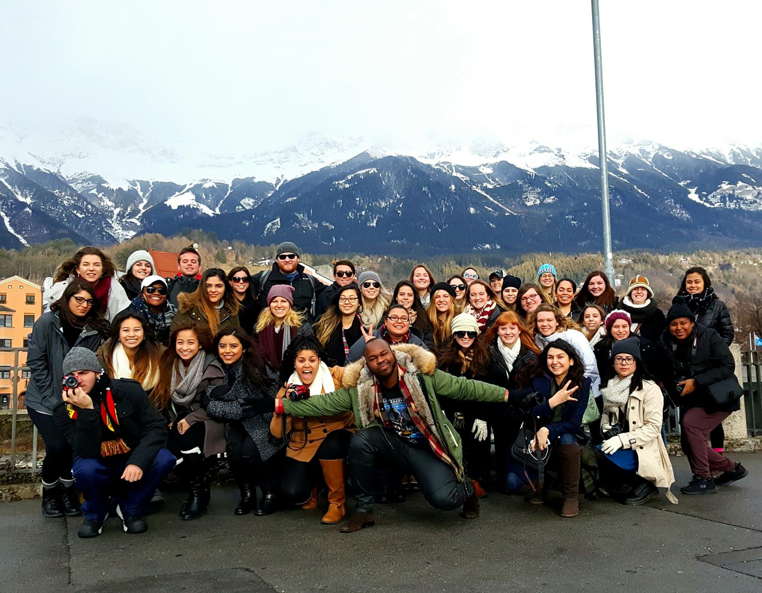 The whole group - there were about 40 people on this trip.