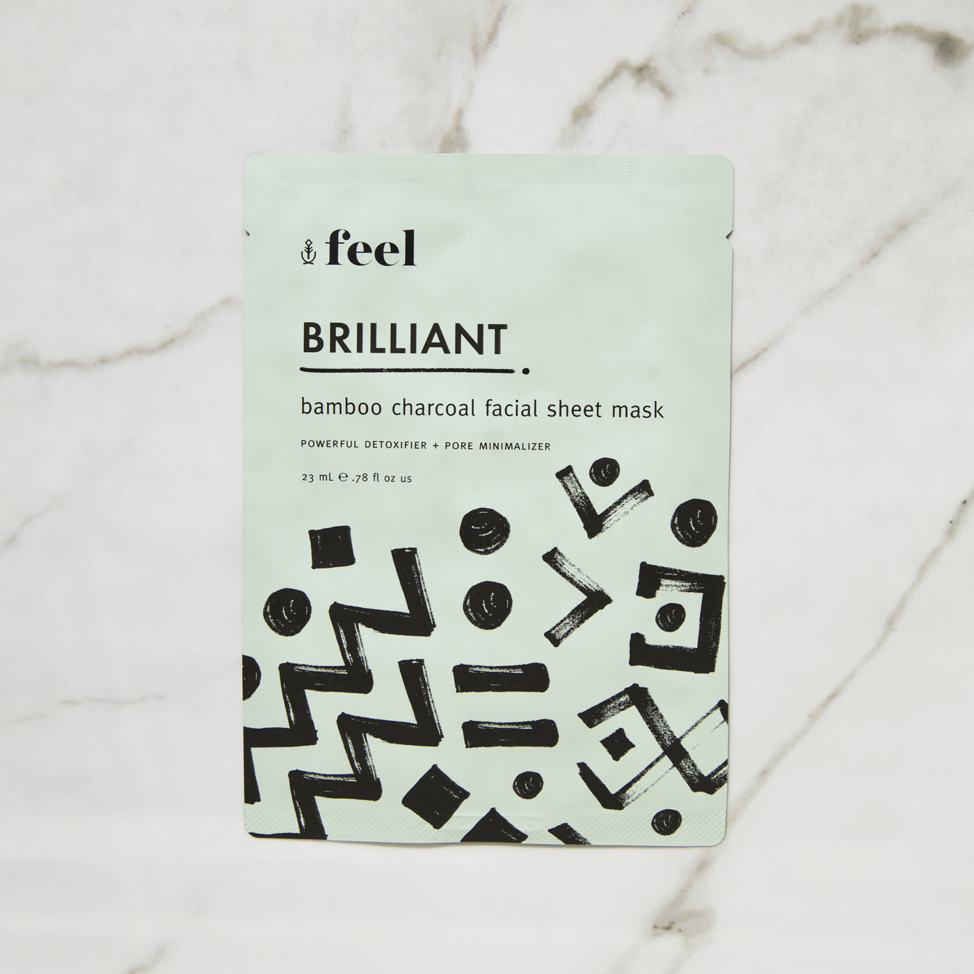 Feel Brilliant Bamboo Charcoal Facial Sheet Mask
