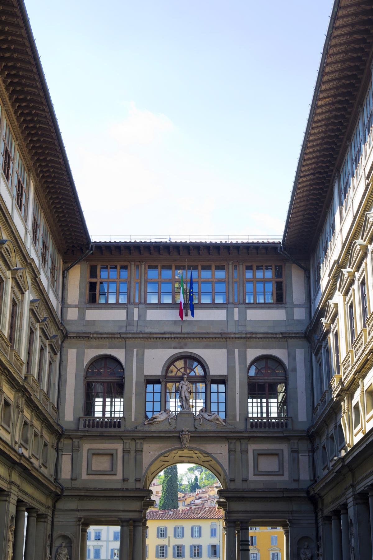 Just outside the Uffizi Gallery
