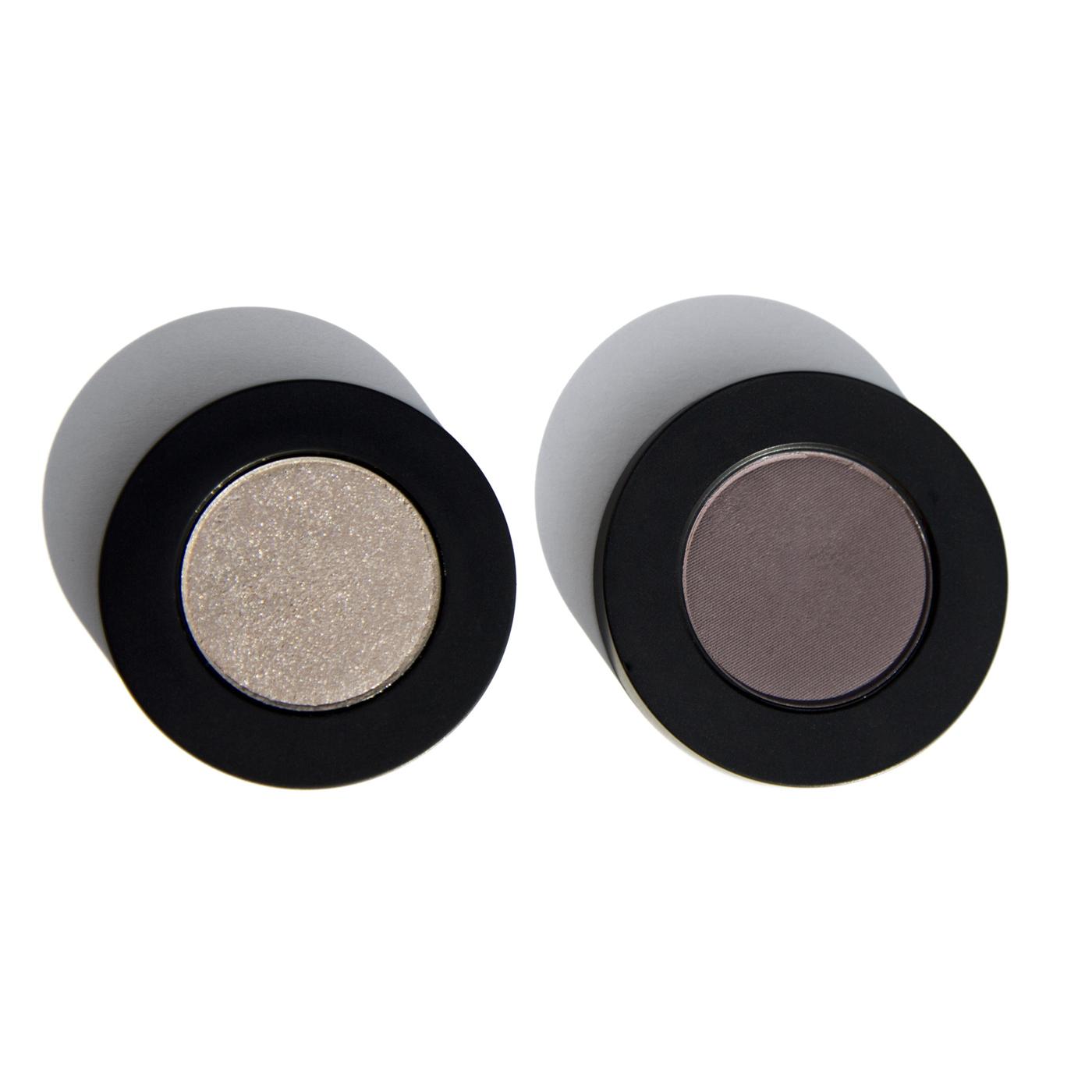 Melt Cosmetics Single Eyeshadows in Harsh Stone White & Assimilate