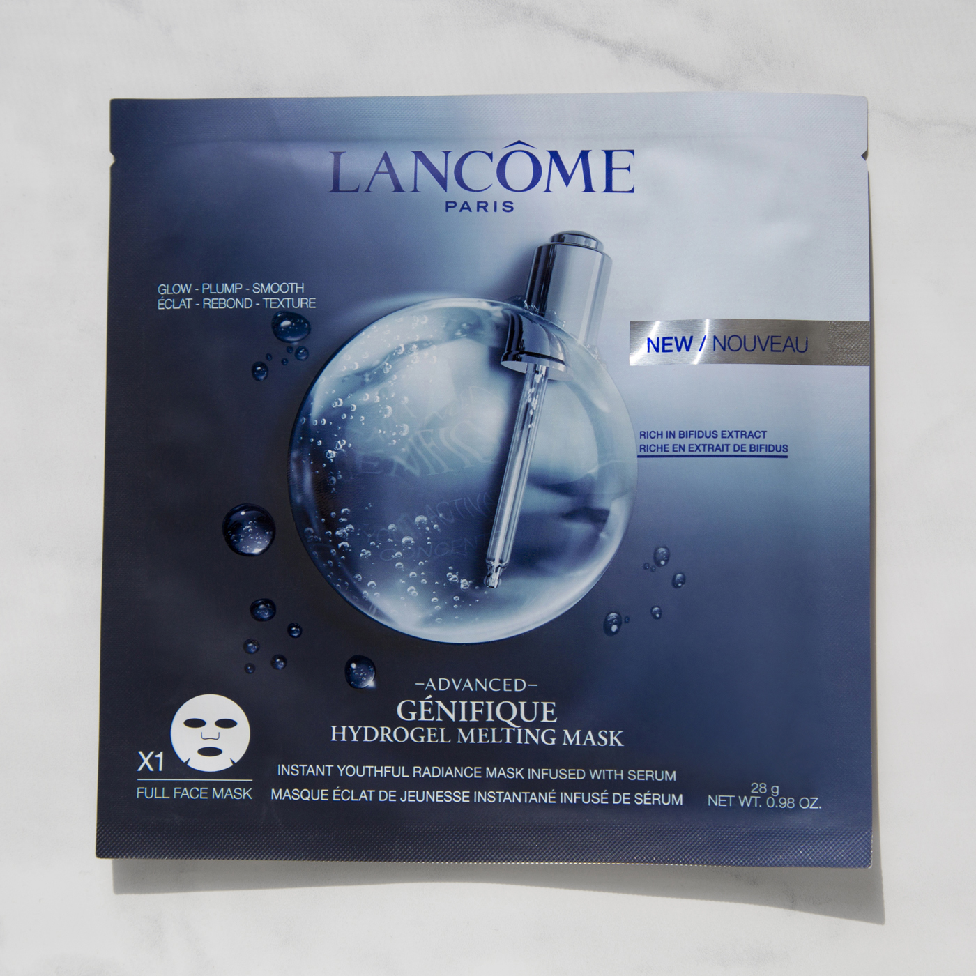 Lancôme Advanced Génifique Hydrogel Melting Mask $15 for 1 or $55/4 - My Rating: ☆☆☆☆ 1/2Duration: up to 30 minutesWhat It Is: Hydrogel mask that is supposed to give the skin instant radiance, hydration, smoothness, and plumpness and is suitable for all skin types.Performance: Very scented, like this would give you a headache if you're sensitive to fragrance. Because of the fragrance I was really worried about having a breakout since fragrance is a common skin irritator but I did not have any negative reactions to this mask. There's three layers to the mask, the mask itself and then it has a protective layer on each side, so that makes it difficult to apply imo and adds more waste which is not ideal but I like that it's not a cloth mask since those tend to dry out my skin. The directions say you can leave it on for 10-30 minutes so of course I had to do the full 30. Afterwards my skin looked incredible; super plumped, hydrated and just very healthy looking. There was not much excess serum left in the packet, which is a pro to me because that means it stays in the mask which goes on the skin, so I applied whatever was left and was able to sleep with just the serum on since it was hydrating enough for my dry/dehydrated skin. When I woke up my skin still looked really good and didn't have any sort of reaction. This mask is almost perfect except for the price and scent which is why I took off a half star.Would I Recommend: Yes, I would definitely recommend this mask if you have the coin for it. It's expensive but it really does work.Sephora Rating: ☆☆☆☆.3