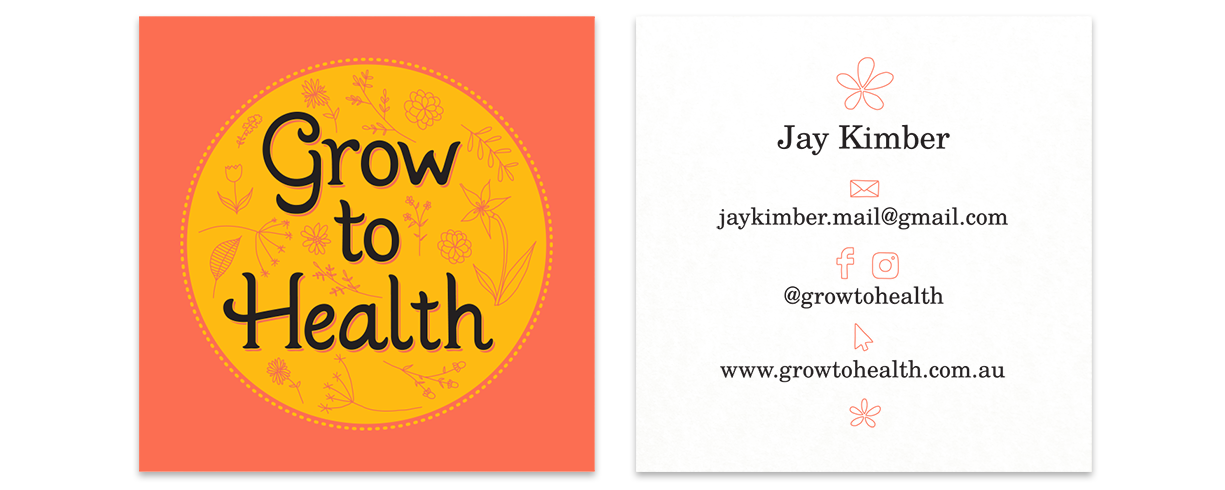 Business card design for Jay Kimber