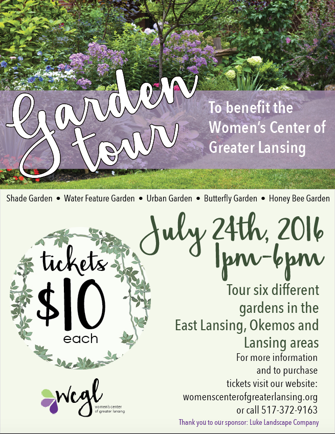 Garden Tour Fundraiser Flyer