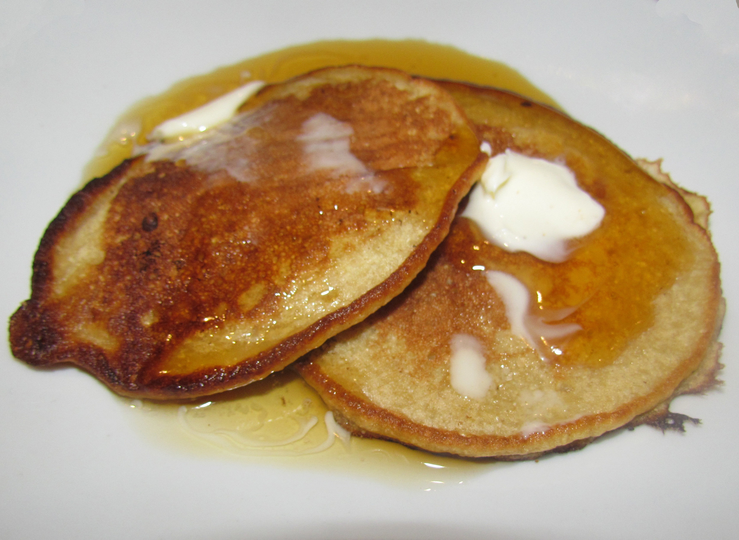 I'm no food photographer. But trust me, these pancakes looked and tasted delish!