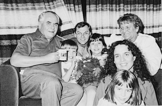 My Omi (top right) was also an excellent cook. My mom (just below) used to perm her hair. That's me with the badass bangs right below.
