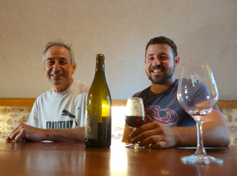 Romain Zordan,the vigneron (right) and his dad Claude (left) Photo credit:  Not Drinking Poison in Paris  wine blog