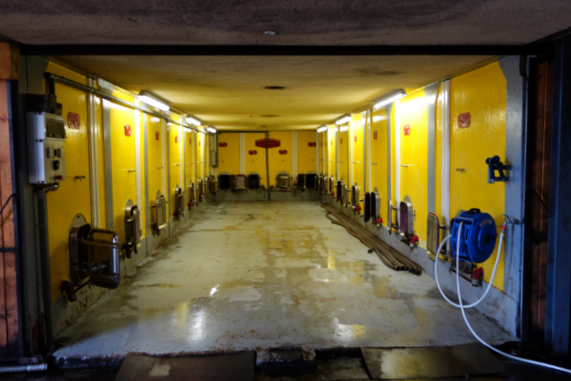 The concrete tanks Photo credit:  Not Drinking Poison in Paris  wine blog