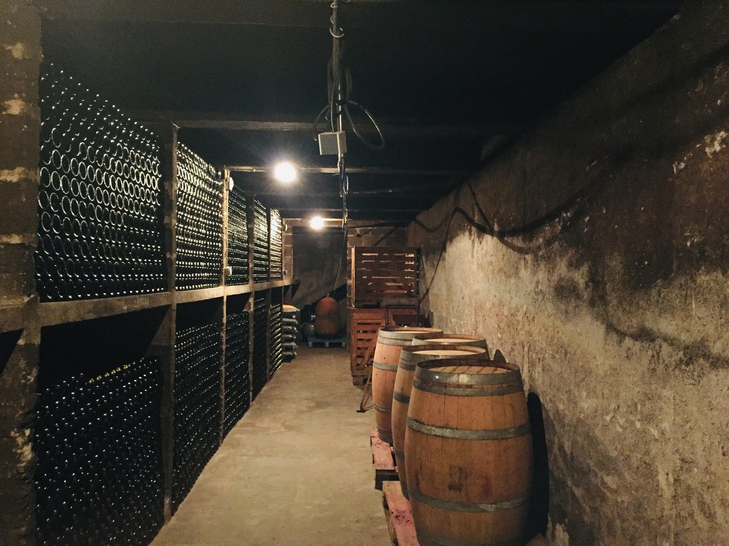 The Domaine's cellar