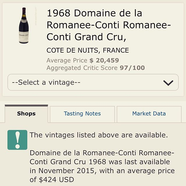 🤣🤣🤣 they didn't make no Romanée Conti in 1968!!! $20 G's?!? 🤣🤣🤣 might be some of that Rudy Juice.