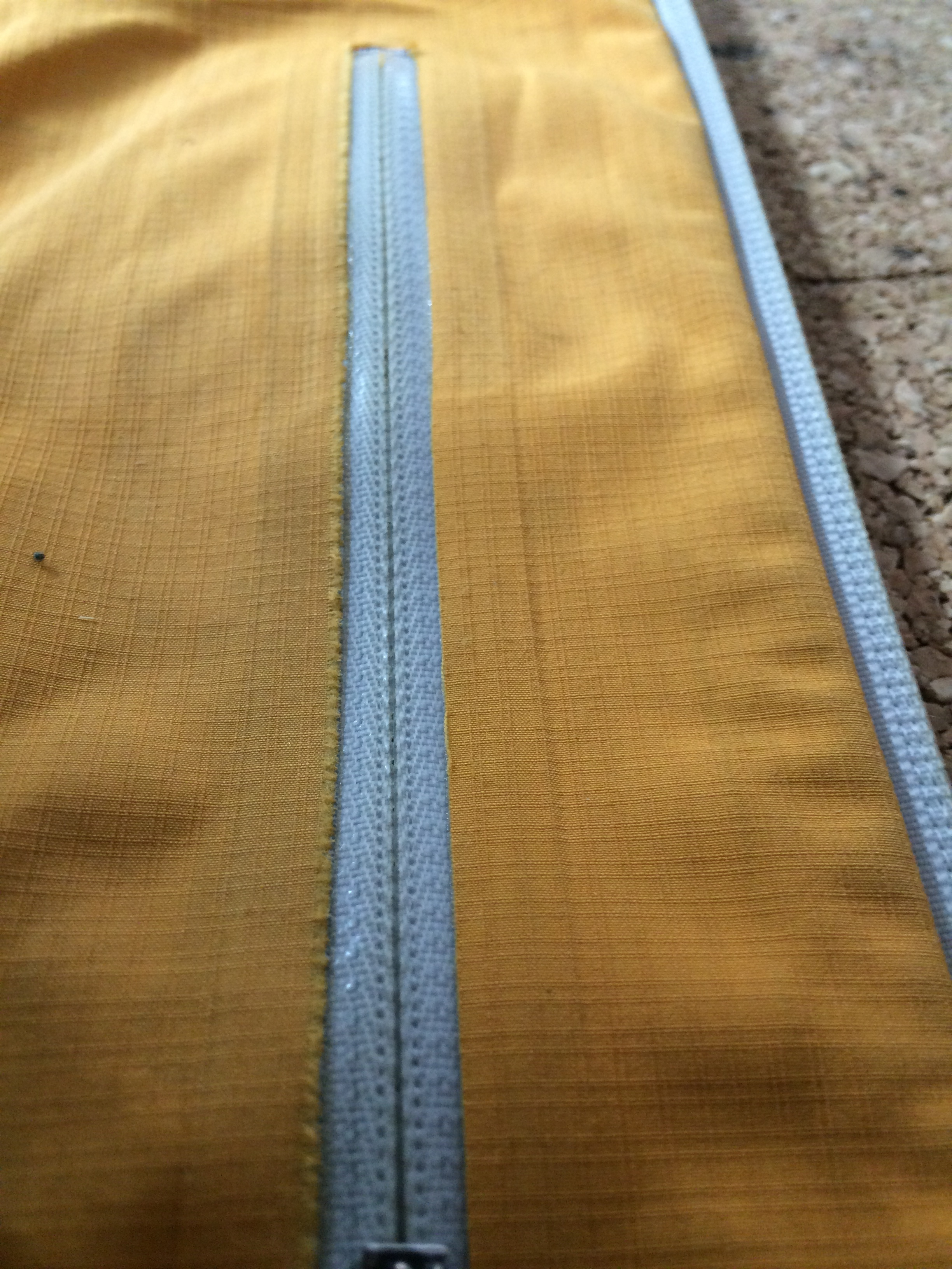 Welded zipper repair
