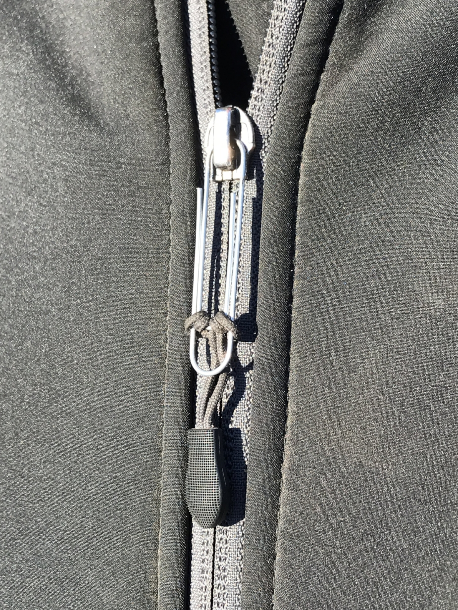 Sometimes just the zipper pull breaks off, and with a locking zipper this can prove extremely frustrating. This customer had done their own easy and fully functional, if not aesthetic repair. Bonus points for hitching the original zipper pull so it stayed attached!