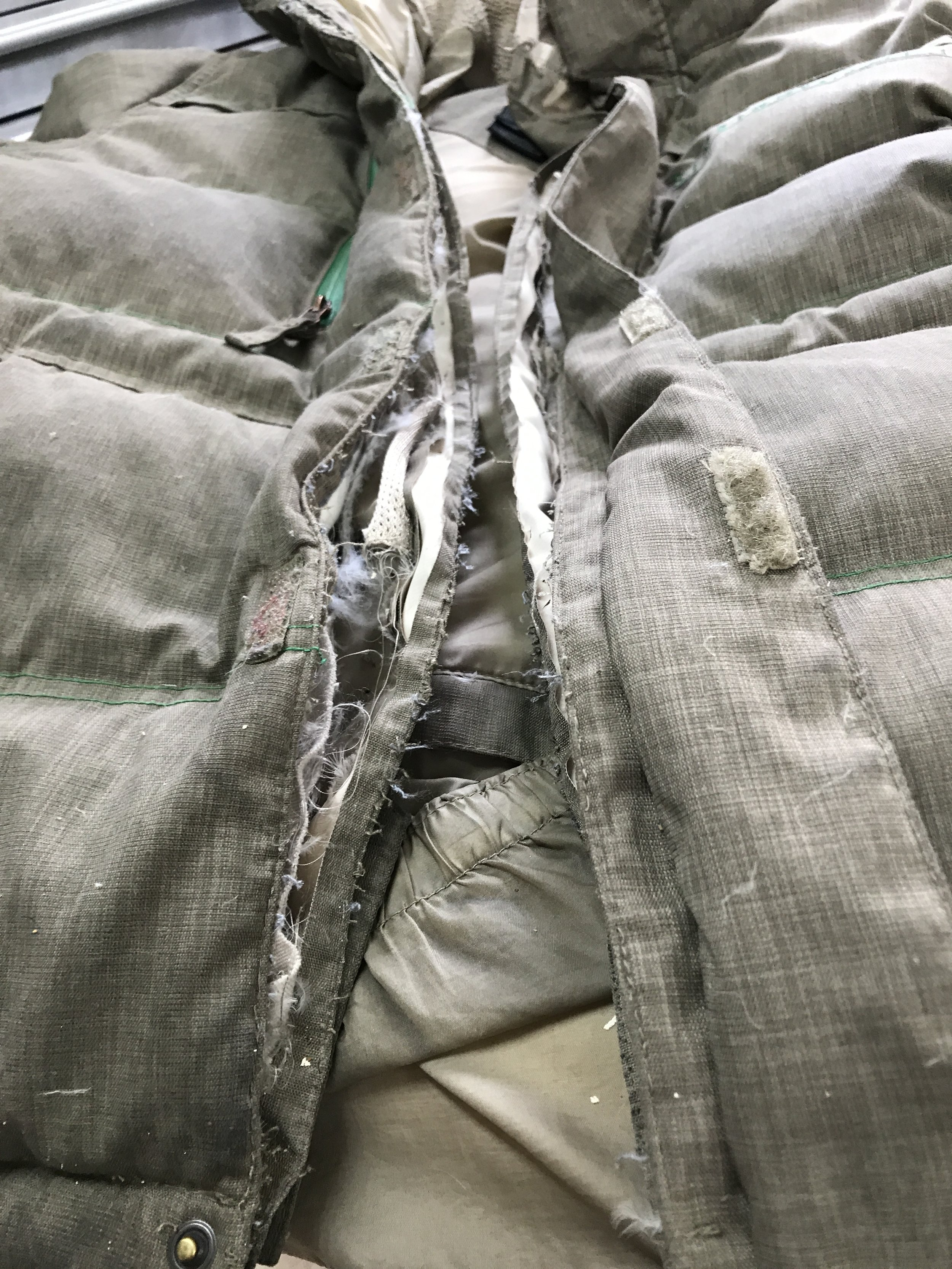 Zipper replacement is an involved process!