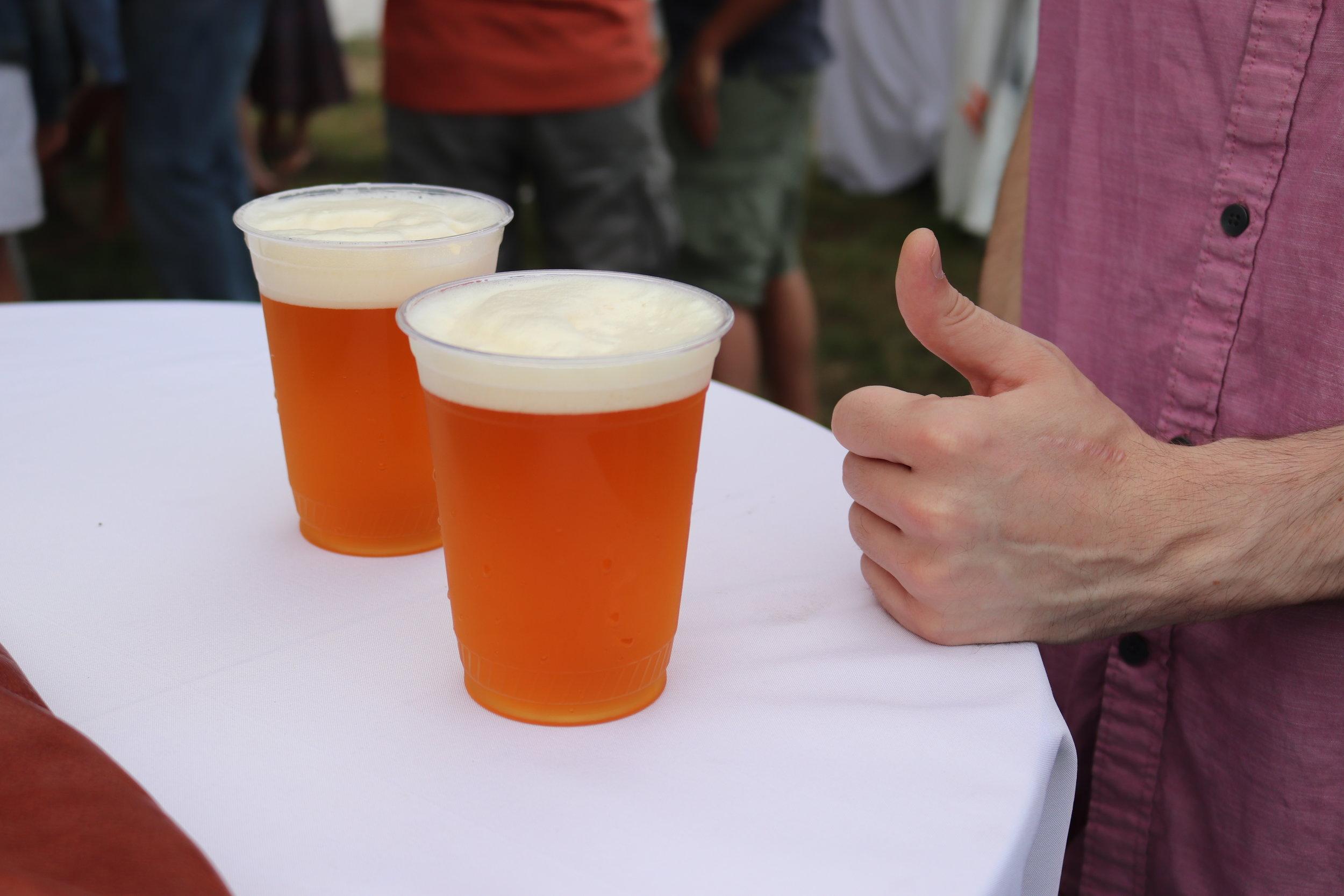 2 local sip of sunshine IPAs on draft