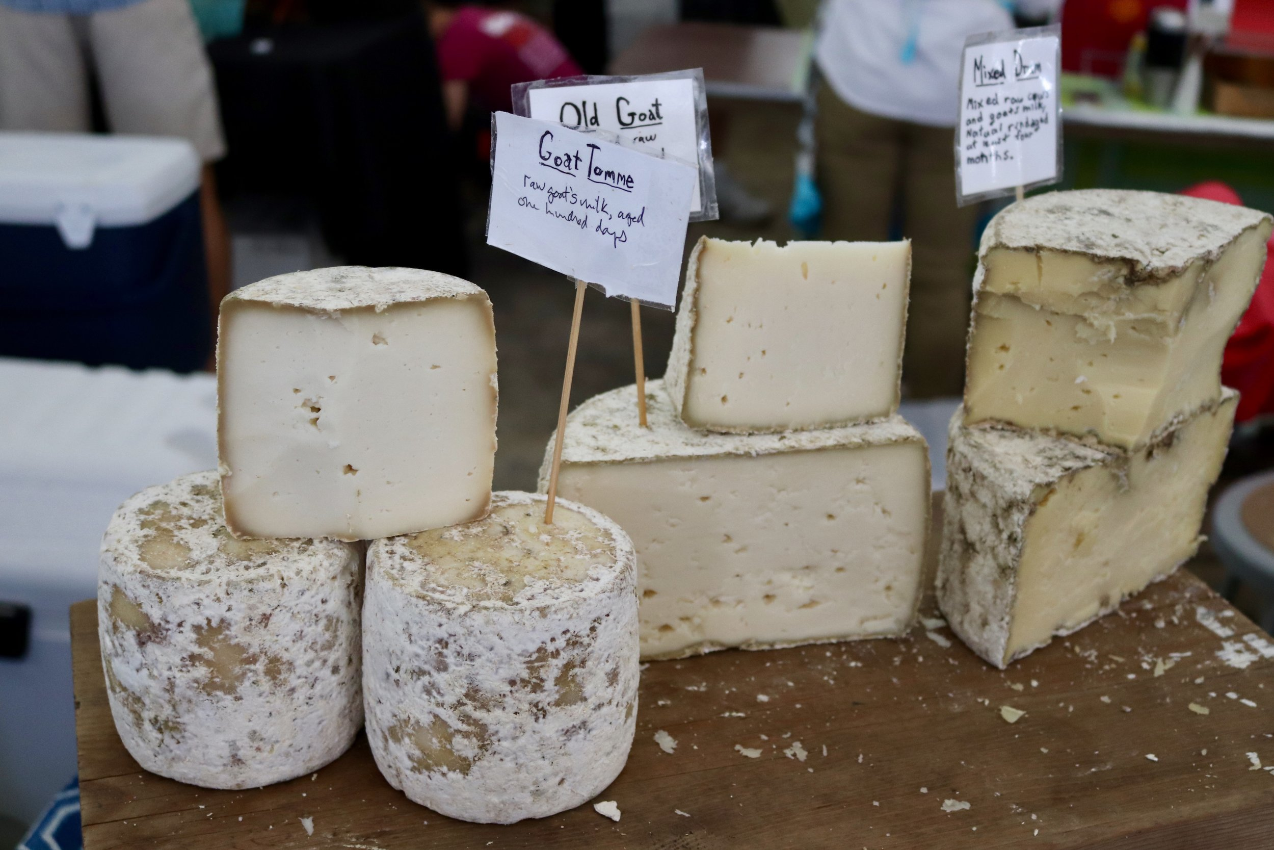 twig farm's cheese display at cheese fest