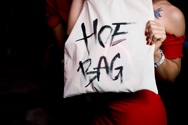 """Gift bags whose contents valued over $500 labeled """"hoe bag"""" were distributed during the event."""
