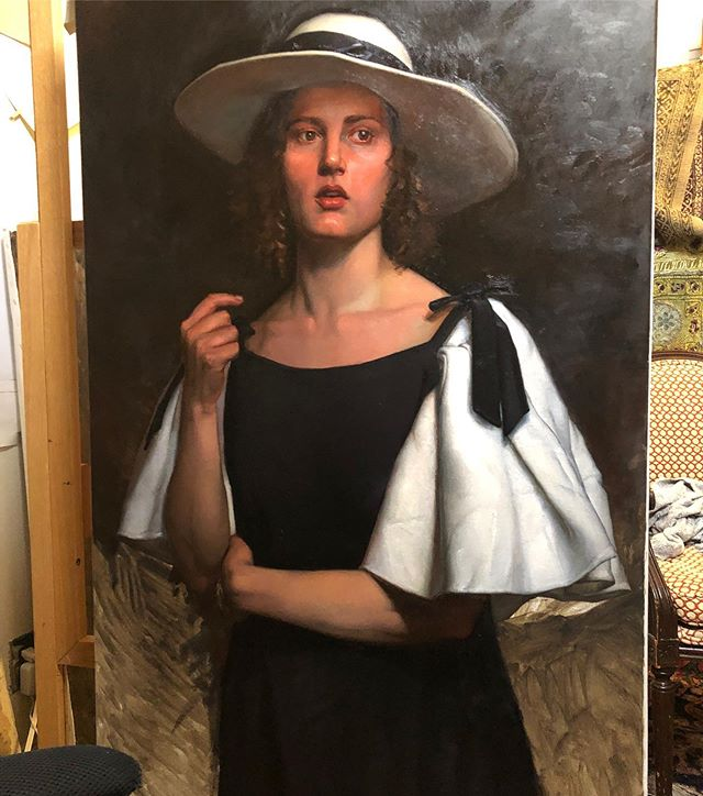 On the easel #WIP #painting