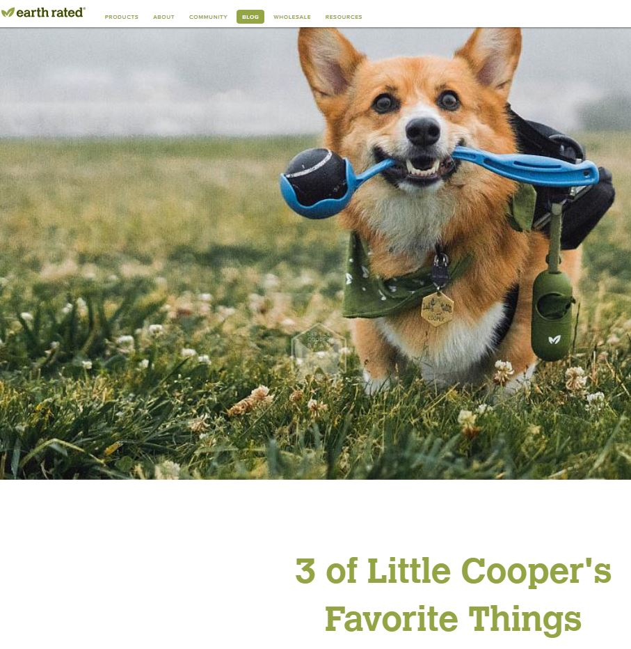 Earth Rated:  3 of Little Cooper's Favorite Things