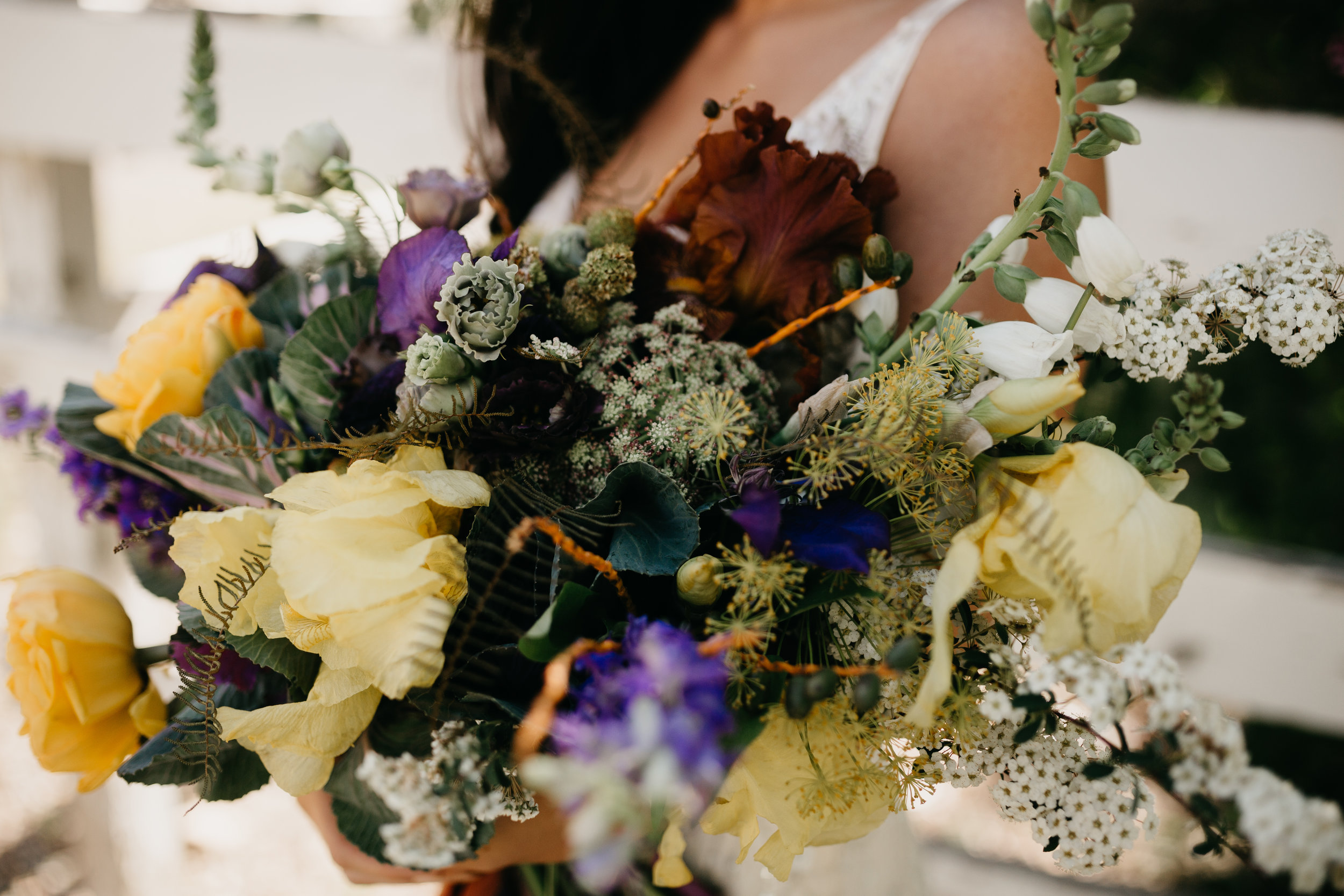 The Potted Pansy + Nicole Leigh Rust Bouquet