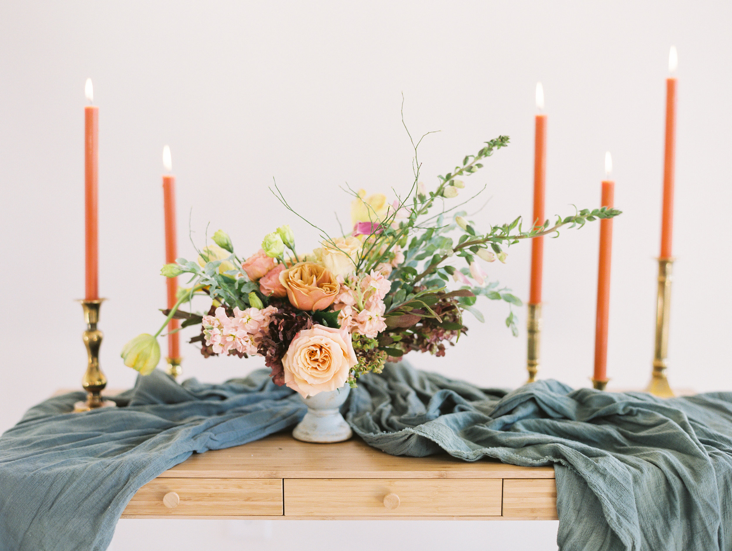 The Potted Pansy Workshop tablescape