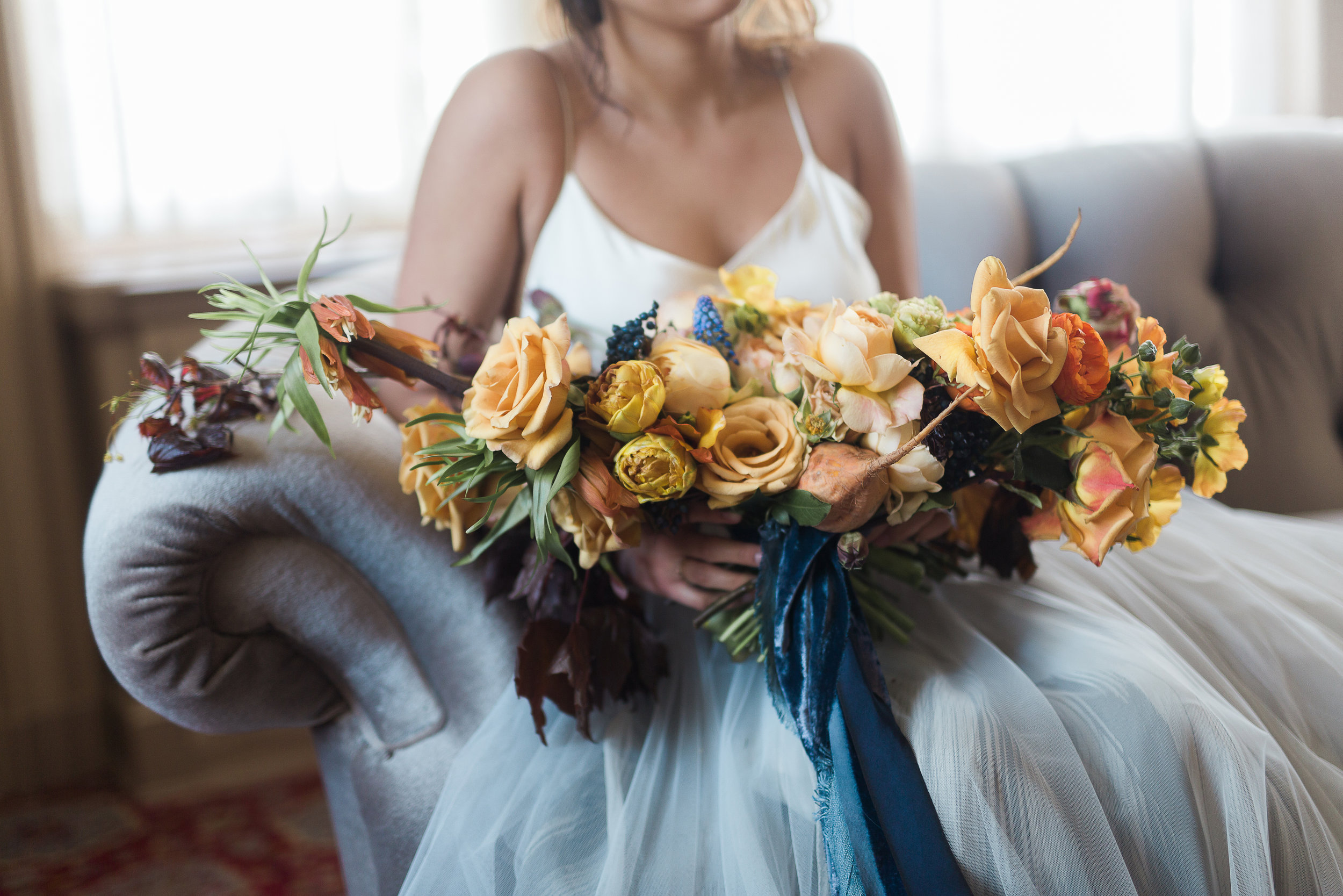 Utah Bride Blog The Potted Pansy Fall Bouquet