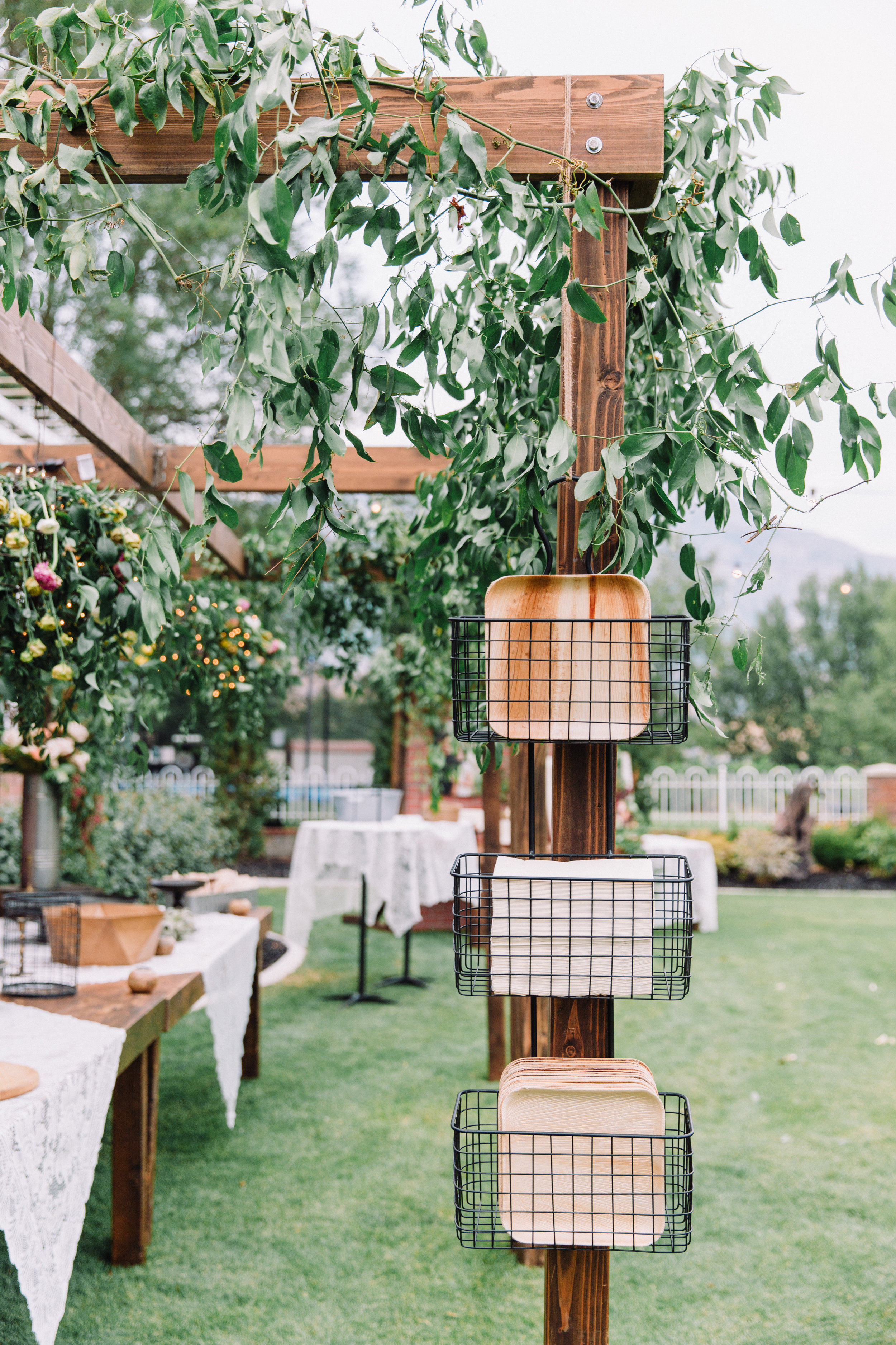 The Potted Pansy Backyard Wedding Details