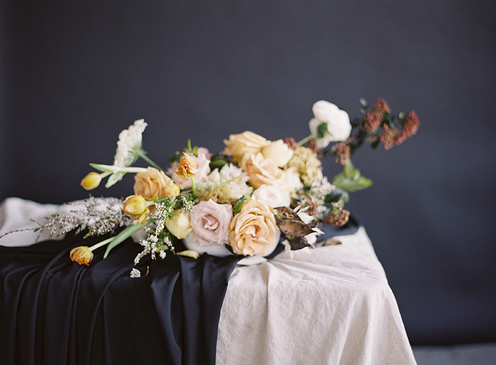 Sara Weir + The Potted Pansy tablescape