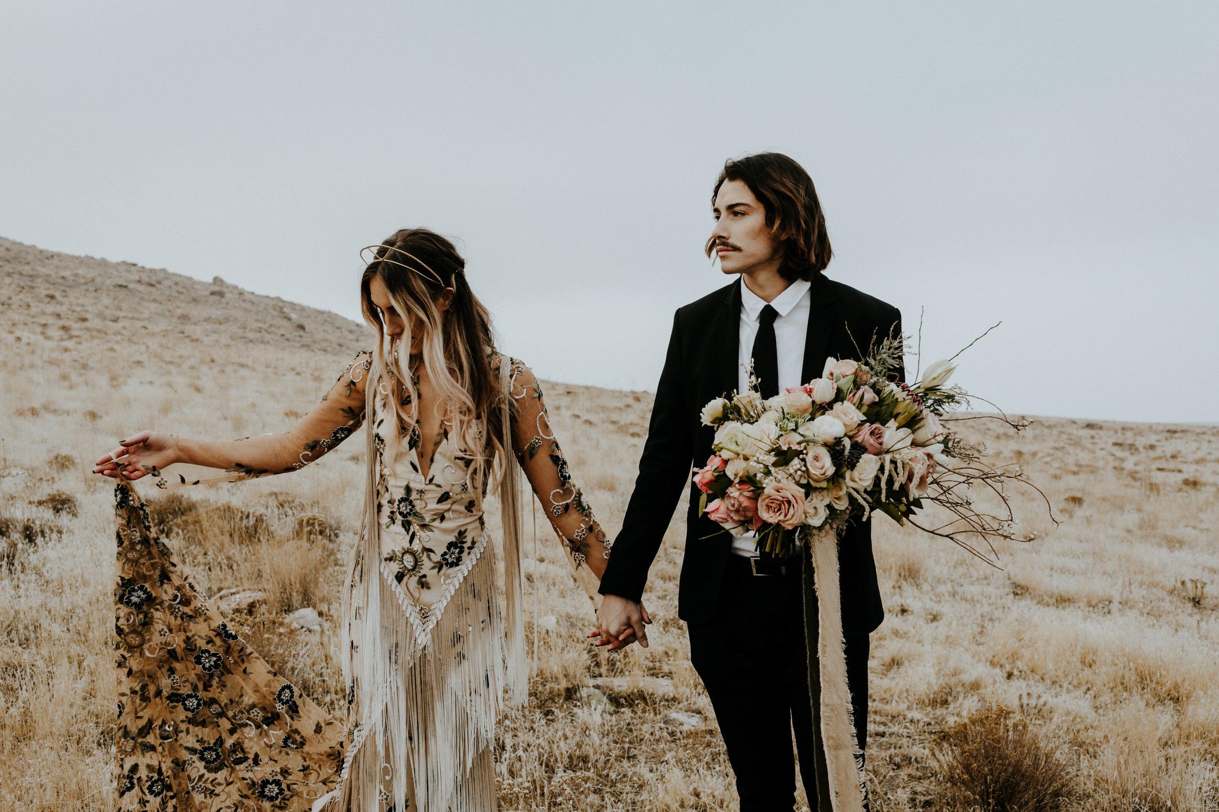 Utah Antelope Island Bridals