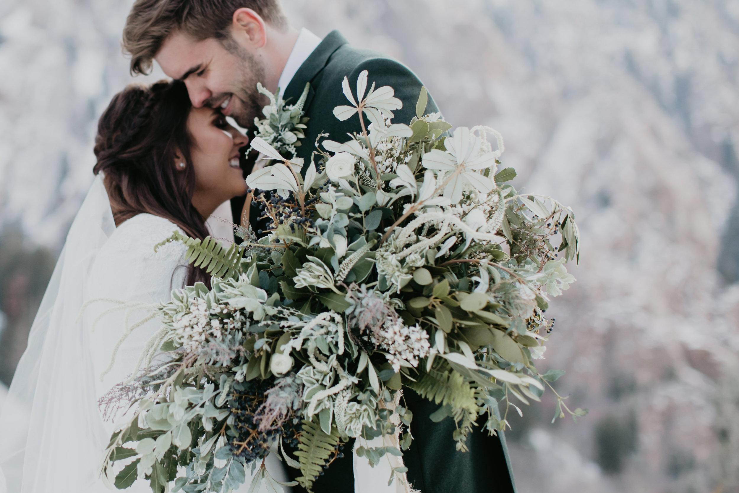 Lundy Anders Utah Greenery Wedding Wedding Bridal Flowers