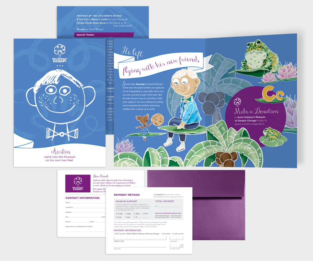 DIRECT MAIL  Client  Kohl Children's Museum /  Agency  Commonground /  CD  Mike Williams /  CW  China McGee /  AD + Illustrator  Johari Huggins