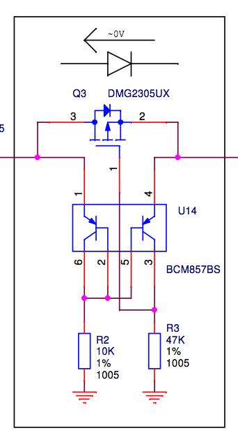 P-MOSFET input protection circuit