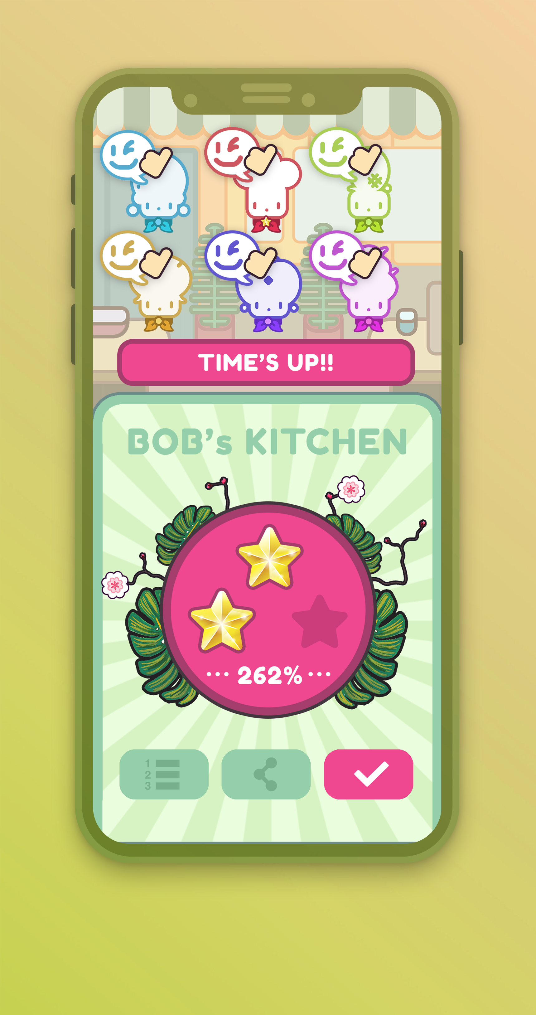 PLAN ITDespite its cute n' simple APPEARANCE, TOO MANY COOKS is incredibly satisfying when players push DIVISION OF LABOUR and TEAMWORK to the next level!  Take those scores to the global leaderboards - its your FRIENDS VS the WORLD!    -