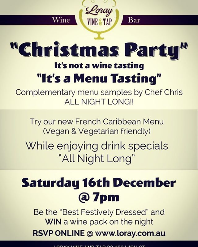 Come celebrate our 1st Birthday and Xmas! Free canapés and & tasting featuring our new French Caribbean menu! All welcome - tomorrow night from 7pm! #frenchfood #caribbeanculture #canapés #drinkspecials #preston#thornburyheights #reservoir