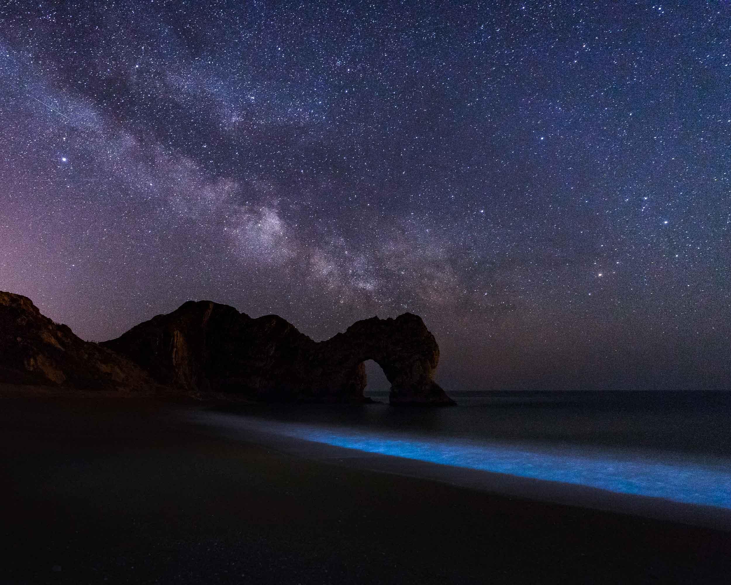 Bioluminescent Algae Durdle Door, Dorset