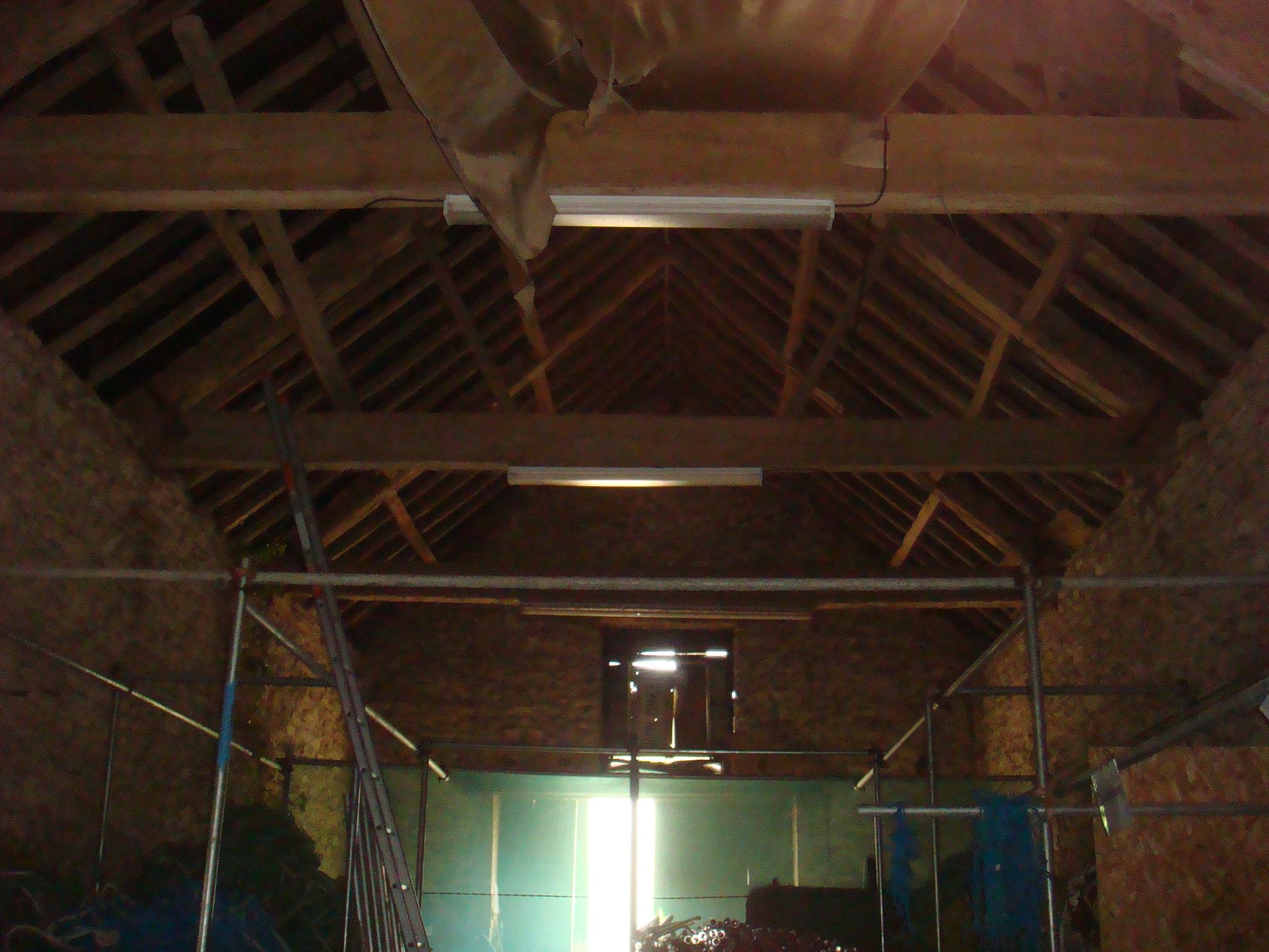 Existing Barn Interior.