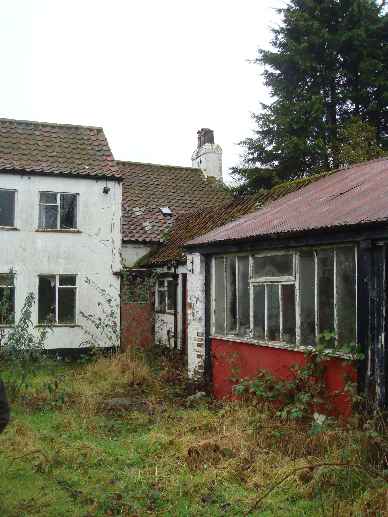 Rear of Neglected Pub Prior to Redevelopment