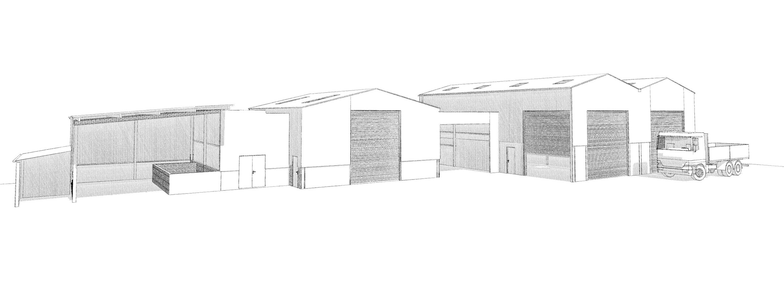 Visual of the approved workshop extension created by our Architectural Team
