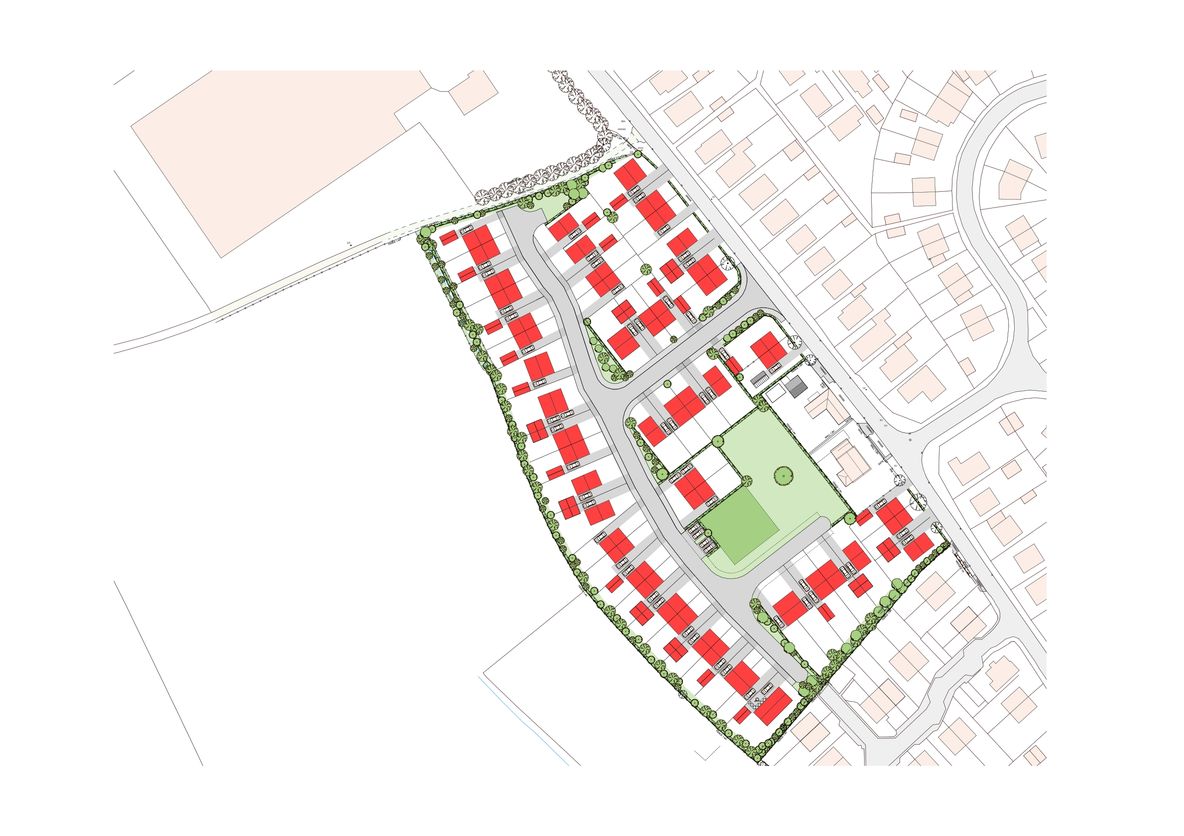 Outline Permission for 52 Houses