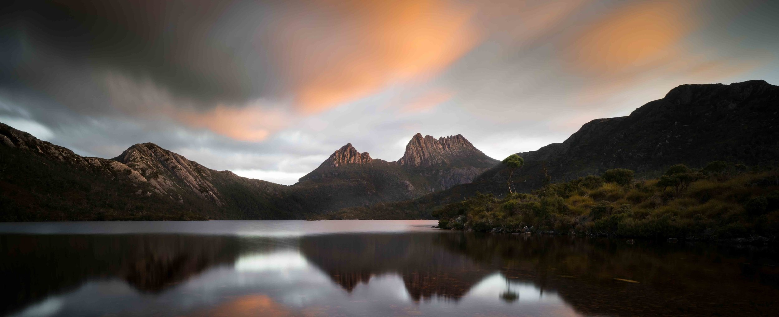 Cradle Mountain, Tasmania   Apparently a clear view of Cradle Mountains peak is rare sight. When its there, you get the post card photo.