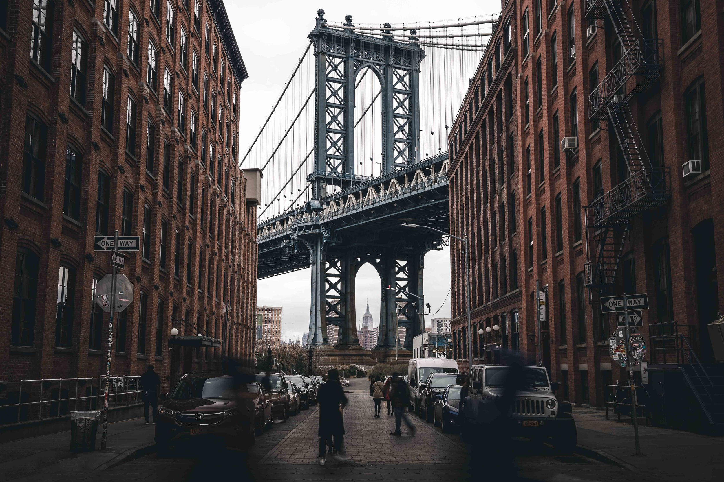 New York, USA   Name one person who has been to NYC and not loved it? This is a fairly popular spot for a winning instagram pic, Washington Street, Brooklyn shooting the Empire State building through Manhattan Bridge. Surely they built it this way with this picture in mind?