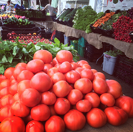 You'll still find red tomatoes at our stand for the next few weeks!