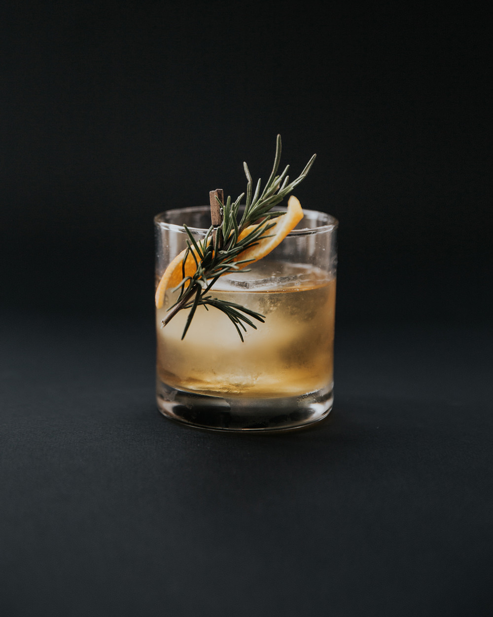 Aromatic - Cane & Abel - 1.5 oz Navy Strength Rum0.5oz Laphroaig 10yr Islay Scotch0.5oz Rosemary syrup2 dash Honest John Aromatic Bitters2 dash Honest John Orange BittersCombine all ingredients into an Old Fashioned glass. Place a single large ice cube into the glass, and stir until well chilled. Garnish with an orange twist and rosemary sprig.