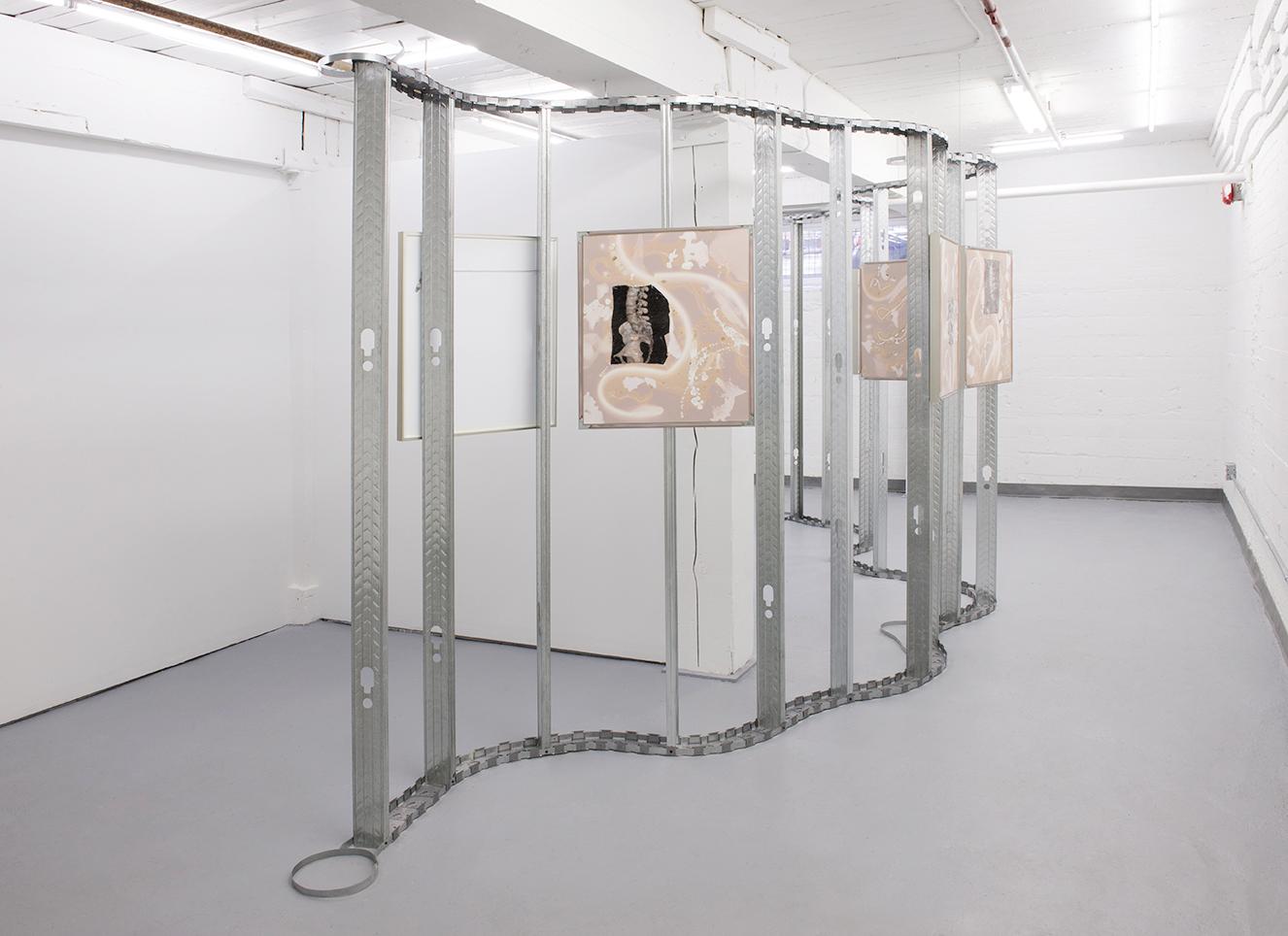 Line Litter, 2017. Installed at Franz Kaka Gallery, Toronto.