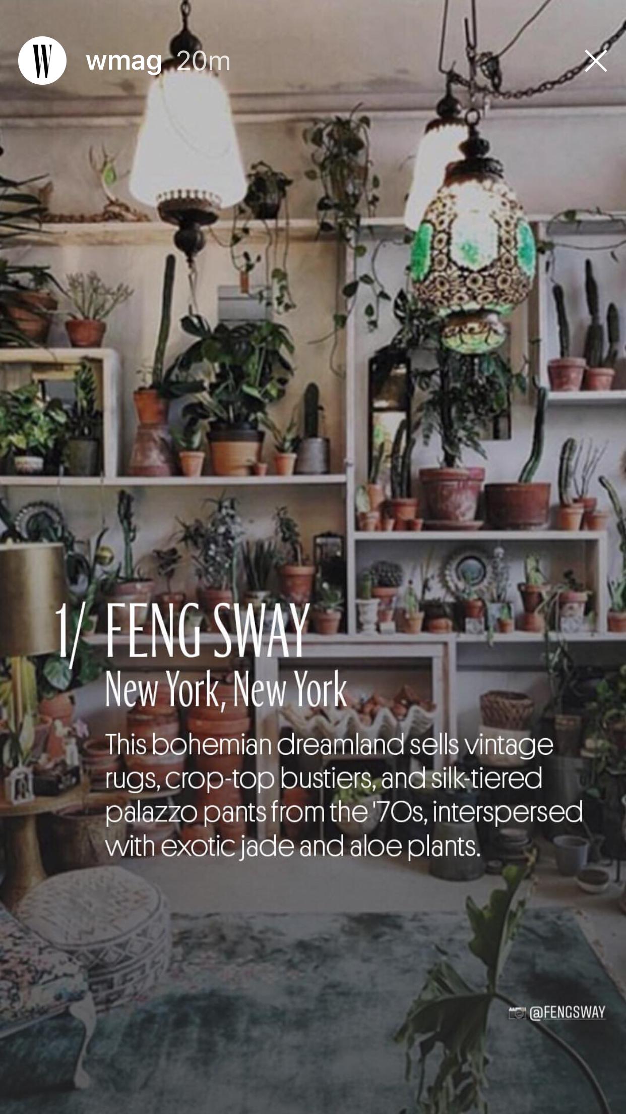 W MAGAZINE  #1 FENG SWAY