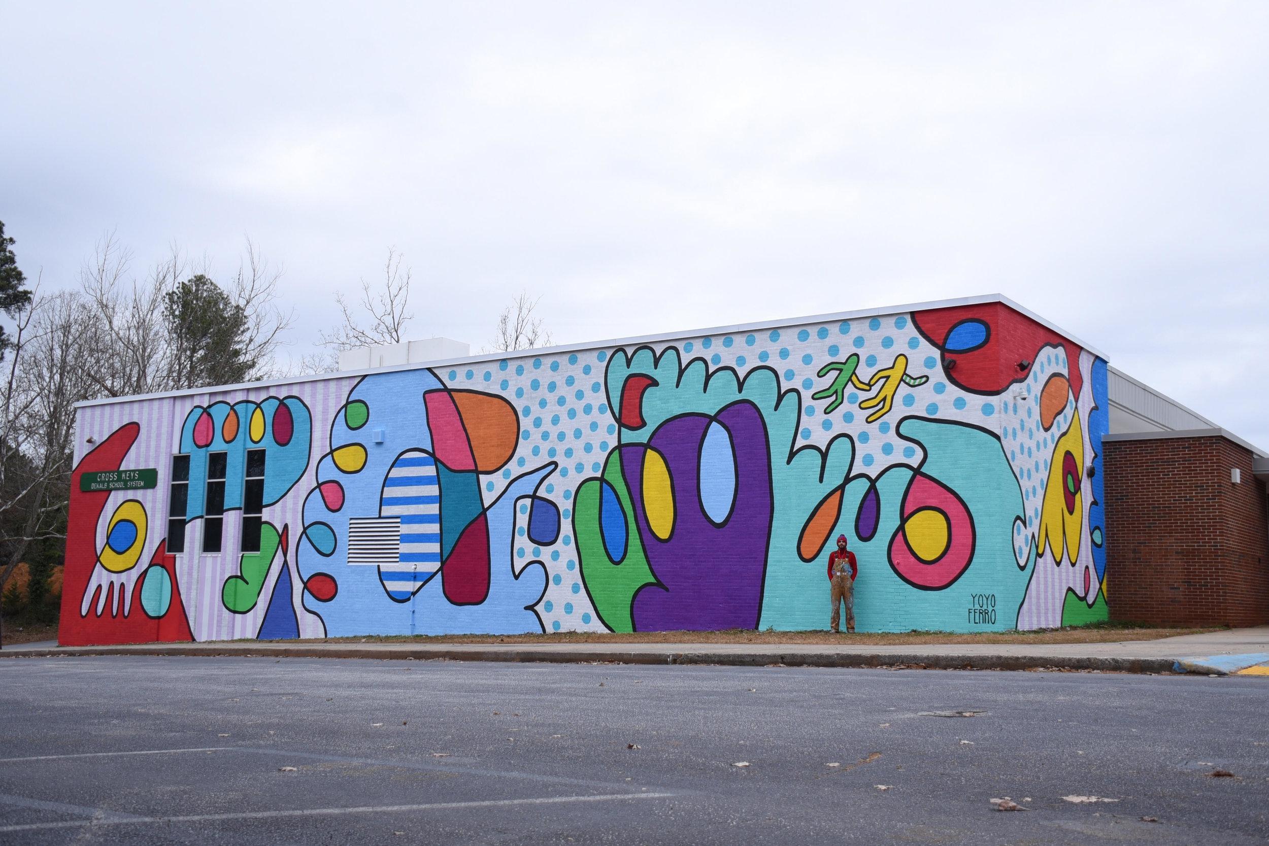 1626 N Druid Hills Rd NE, Atlanta, GA 30319, USA ( Cross Keys High School  for  Living Walls )