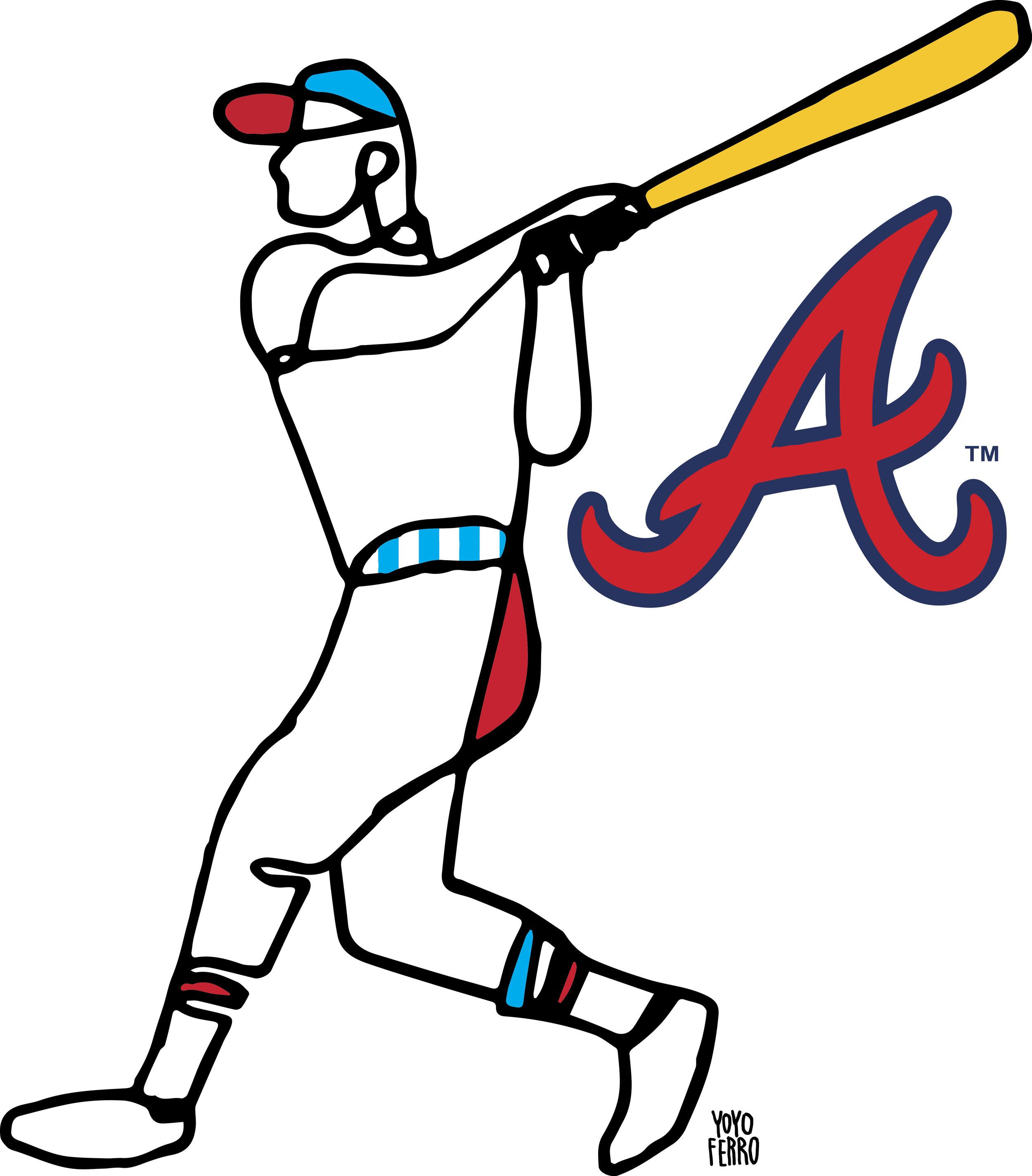 T-shirt design for the  Atlanta Braves , 2017