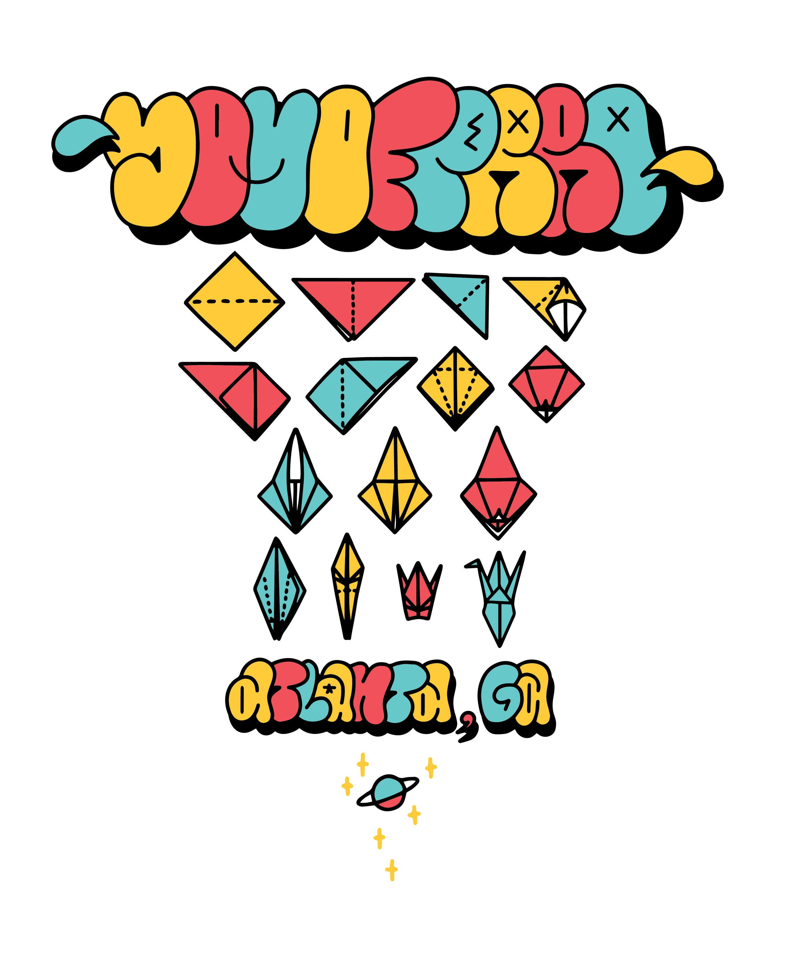 """""""Origami Crane Diagram""""   BUY T-SHIRT"""