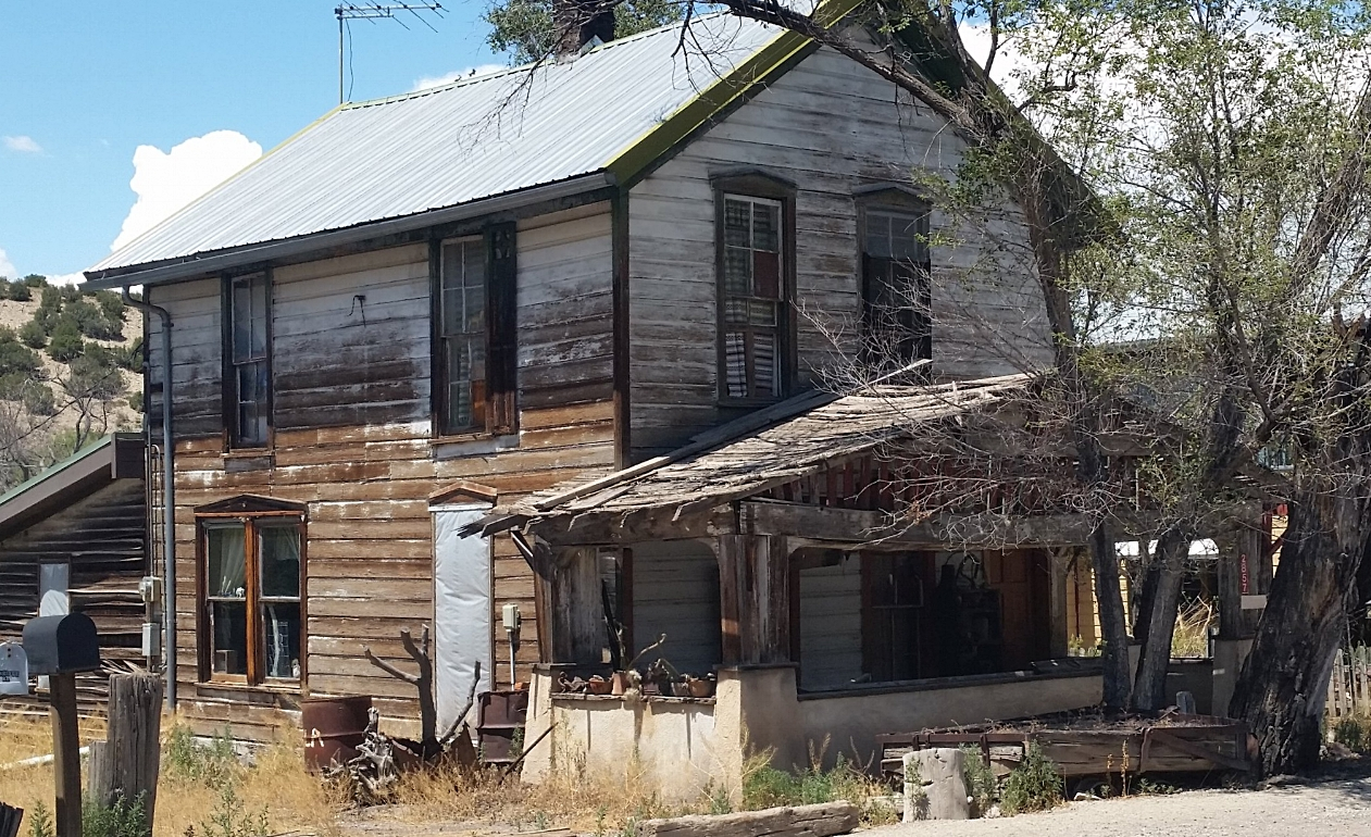 Unrenovated miner's house.
